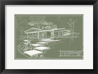 301 Cypress Dr. Moss - Inverse Framed Print
