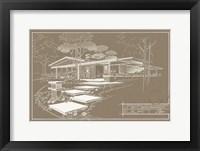 301 Cypress Dr. Sepia - Inverse Framed Print