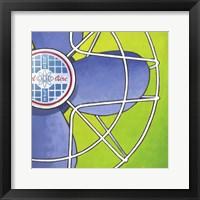 Bel-Aire Fan - Green Framed Print
