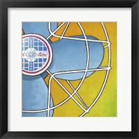 Bel-Aire Fan - Orange Framed Print