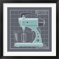 Framed Galaxy Mixer - Aqua