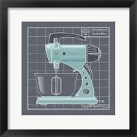 Galaxy Mixer - Aqua Framed Print