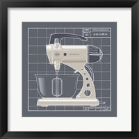 Galaxy Mixer - Ivory Framed Print