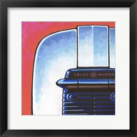 Galaxy Toaster - Red Framed Print