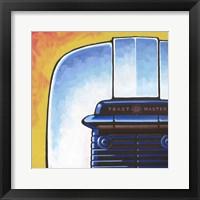 Galaxy Toaster - Yellow Framed Print