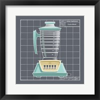 Galaxy Blender - Aqua Framed Print