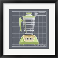 Galaxy Blender - Lime Framed Print