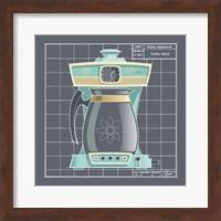 Framed Galaxy Coffeemaid - Aqua