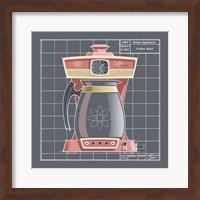 Framed Galaxy Coffeemaid - Flamingo