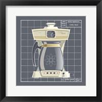 Galaxy Coffeemaid - Ivory Framed Print