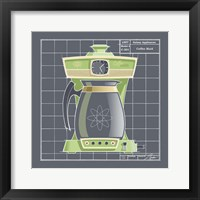 Galaxy Coffeemaid - Lime Framed Print