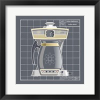 Galaxy Coffeemaid - Pewter Framed Print