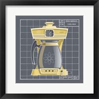 Galaxy Coffeemaid - Sunflower Framed Print