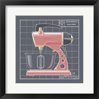 Galaxy Mixer - Flamingo Framed Print