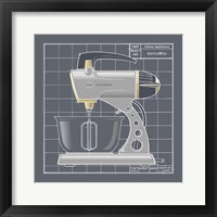 Galaxy Mixer - Pewter Framed Print