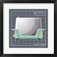 Galaxy Toaster - Aqua Framed Print