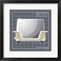 Galaxy Toaster - Ivory Framed Print