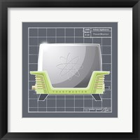 Galaxy Toaster - Lime Framed Print