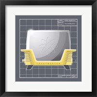 Galaxy Toaster - Sunflower Framed Print