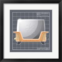 Framed Galaxy Toaster - Tangerine