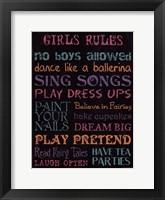 Framed Girl's Rule