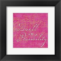 Framed Sorbet Scripts - Dwell In Poss