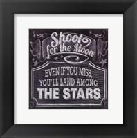 Framed Chalkboard - The Moon & The Stars