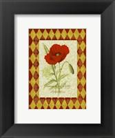 Framed Adorned Poppy 1
