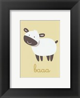 Framed Barn Baby Baaa