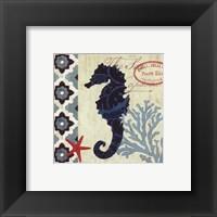 Framed Sea Life Seahorse