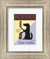 Framed Brown Dog Cookies