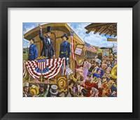 Framed Lincoln to Washington
