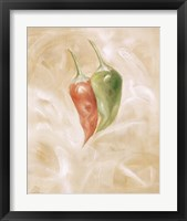 Framed Hot Peppers I