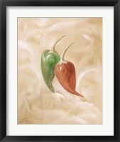 Framed Hot Peppers IV