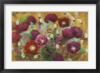 Poppies and Peonies Framed Print