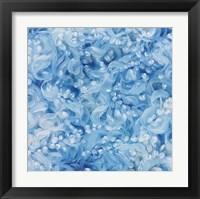 Framed Blue Swirls
