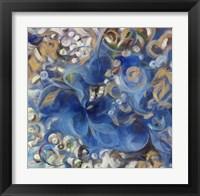Iris Swirl Framed Print