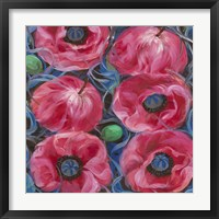 Framed Six Pink Poppies