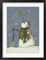Snowman at Rest Framed Print