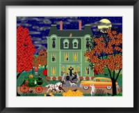 Framed Halloween House