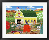 Framed Bee's Apple Honey Barn