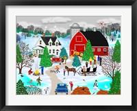 Framed Christmas on the Farm