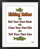 Framed Fishing Rules
