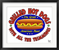 Framed Grilled Hot Dogs