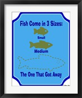 Framed Fish Are 3 Sizes