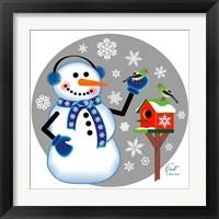 Framed Snowman Birdhouse