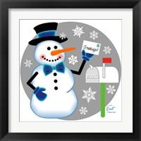 Framed Snowman Mailbox