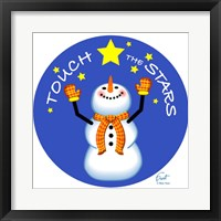 Framed Snowman Touch The Stars