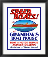 Framed Speed Boats