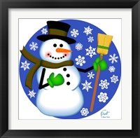 Framed Snowman Broom